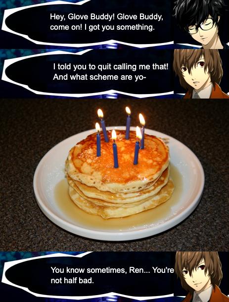 A birthday worthy of the (G l o v e  B u d d y ) Detective Prince.  Happy Birthday, Akechi!!!  -Ronin