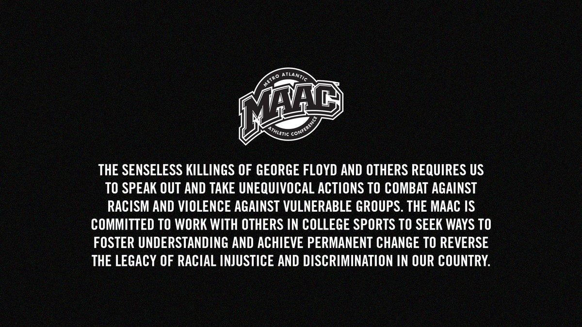 A statement from the MAAC Council of Presidents.