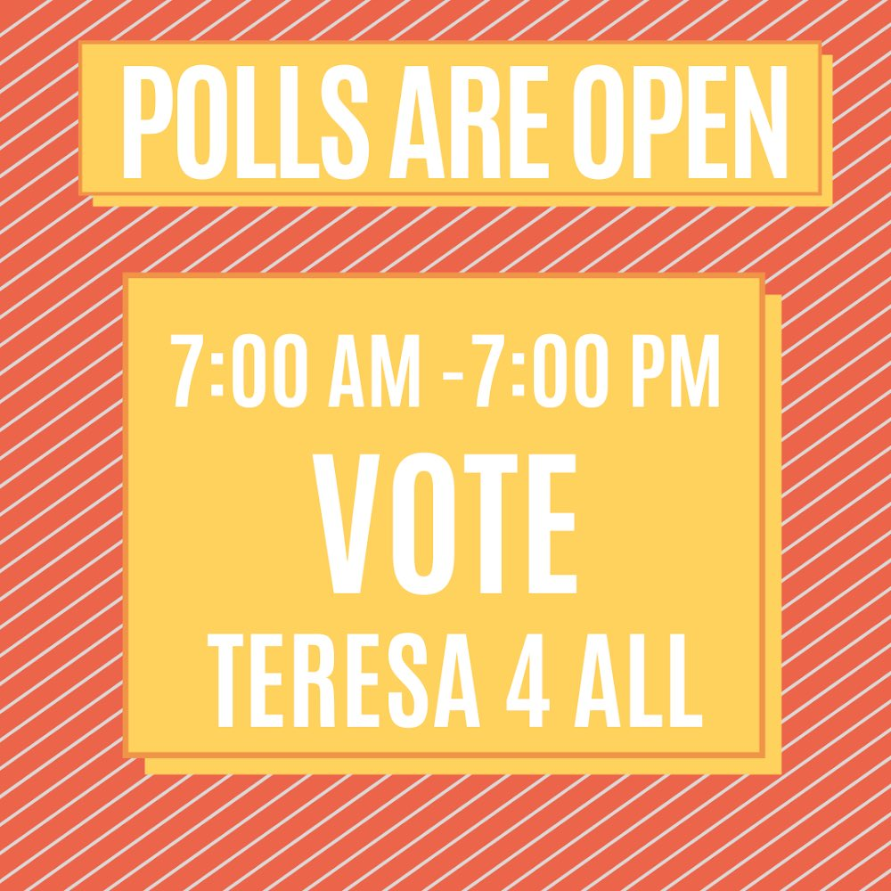 Today is Election day! Join us and support Teresa 4 All. Polls close at 7pm. Nmvote.org