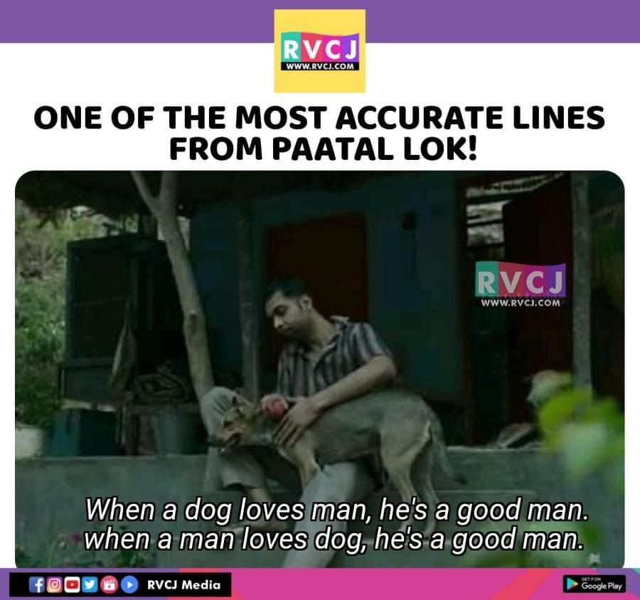 These Lines  @nowitsabhi  #PaatalLok #WebSeries #Dog #Dialogue #rvcjmovies pic.twitter.com/GJ7DNFNWFb