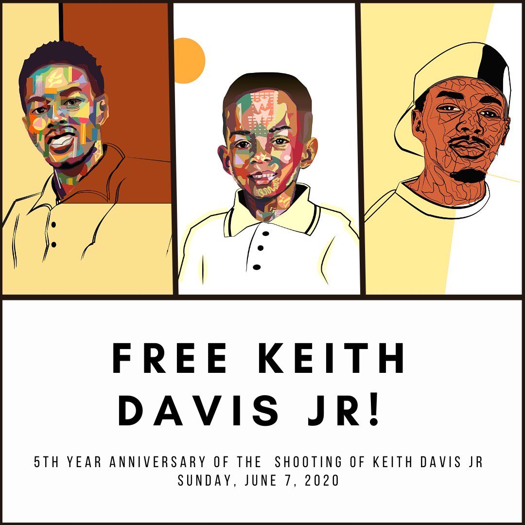 June 7th will be a day of action for Keith Davis Jrs freedom. If you are interested in joining/would like more info please email justice4keithdavisjr@gmail.com. Show up and show out. Keep sharing this. #FreeKeithDavisJr