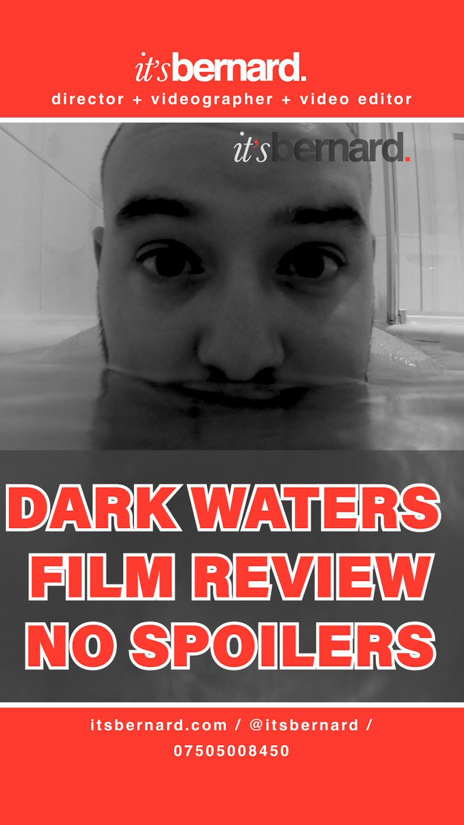 Heres a teaser thumbnail for a MOVIE REVIEW  I did for the FILM DARK WATERS starring @markruffalo The video will be out in 3 hours!  Whats your favourite MARK RUFFALO role?  #DarkWaters #MovieReview #Film #Movie #itsbernardpic.twitter.com/a4dcMuTm4N