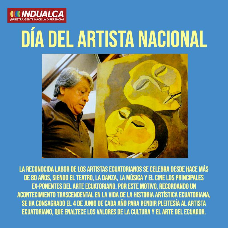 Este día es especial para los ecuatorianos pues la expresión artística es una gran parte de nuestra historia y cultura. Gracias por ello. . . #4JUNIO #ECUADOR #FELICIDAD #artistasecuatorianos #arte #reactivateEcuador  #indualca #Quitopic.twitter.com/WwvCtUEKPD