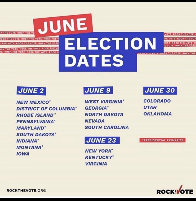 VOTE TODAY. JUNE 2ND