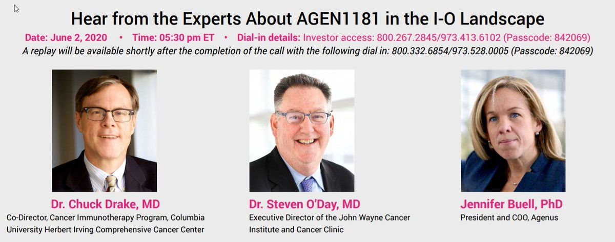 test Twitter Media - EXPERT PANEL TONIGHT!  Join Dr. Steven @ODayMD  @JohnWayneCI, Dr. Chuck Drake @nyphospital & @columbiacancer, & Dr. Jennifer Buell from @Agenus_Bio to discuss Next Generation IO Therapies, including AGEN1181 with Mayank Mamtani from @BRileyFinancial  #innovation #nextgeneration https://t.co/omgnBDFffg
