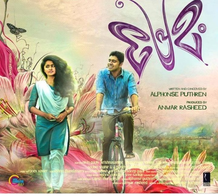 Premam (2015) Malayalam  Cast - Sai Plallavi, Nivin Pauly, Madonna Sebestian, Anju Kurian, Shabarees Varma, Krishna Sankar, Ananth  #IMDb   A guy who fell love with school girl then teacher and finally getting marry another girl. My Rating 8/10 #MovieReview  #MovieReviewbyCharlypic.twitter.com/TN51cTeD2k