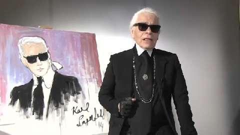 """Un autoportrait de Karl Lagerfeld réalisé pour """"Madame Figaro"""" adjugé 17.980 euros aux enchères #Mode #Style #KarlLagerfeld #Lagerfeld #Portrait https://t.co/x1sw1k07le https://t.co/42fmeBSnQz"""
