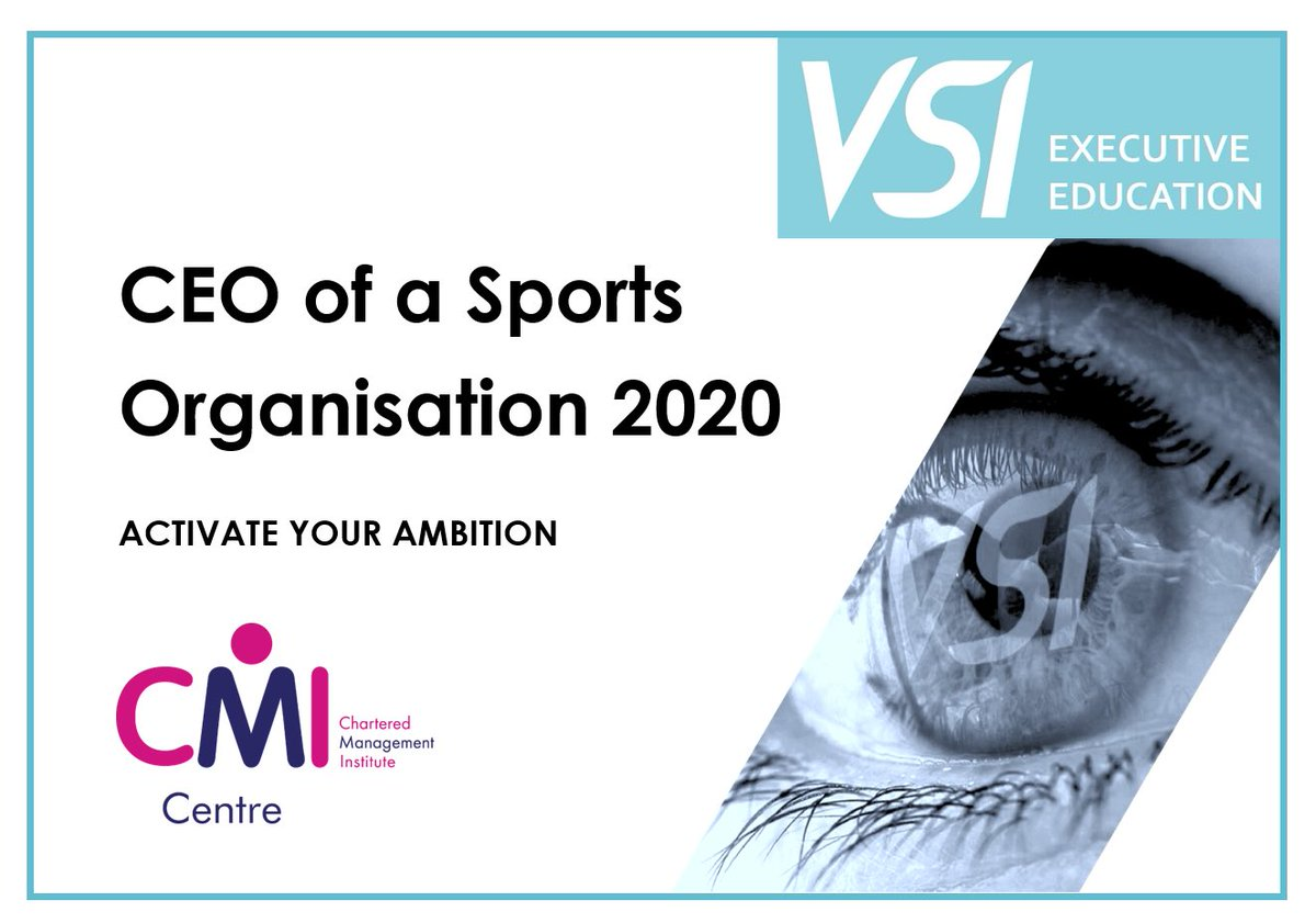Defining what your game is, where your going to have an edge is enormously important. VSI Virtual Open Day 👉 VSI CEO of a Sports Organisation Programme 👉 June 11th 👉 arrange a discovery call info@vsiee.com #CEO #Sport #Education @DrRob_Wilson @FCKev @cmi_managers