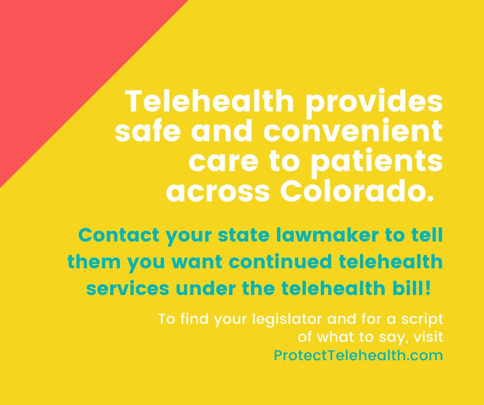 test Twitter Media - Telehealth is a vital tool for Colorodans to access care in a safe, convenient way. Call your representatives and urge them to preserve access today. #cohealth #coleg https://t.co/JEAhP4k5zl