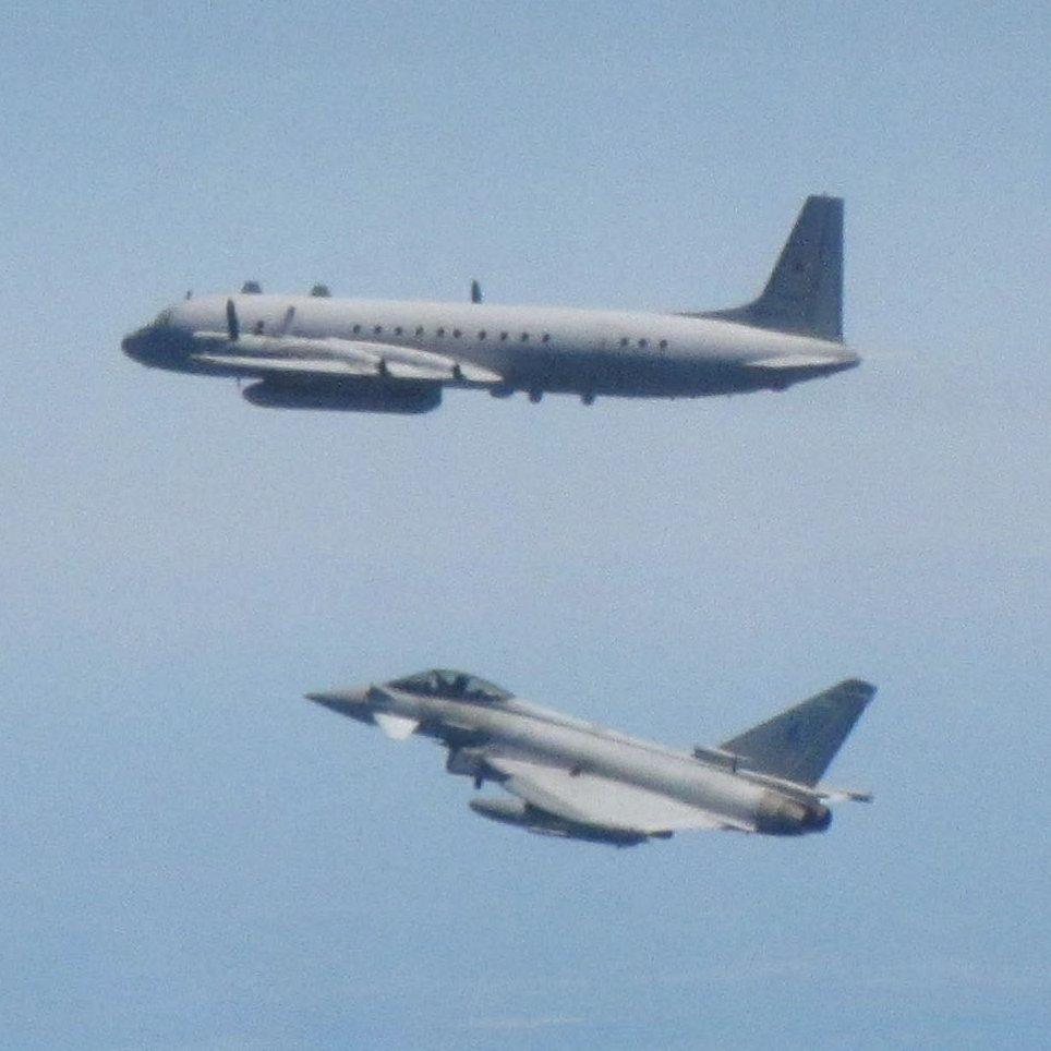 The IL-20 'COOT' is primarily used for the gathering of intelligence.   It was intercepted by #TeamLossie Typhoons based at Šiauliai Air Base in Lithuania, as part of @NATO's #BalticAirPolicing mission.   We will scramble 24/7 to intercept unidentified aircraft.  #QRA 2/4 https://t.co/OmzW3shmiK