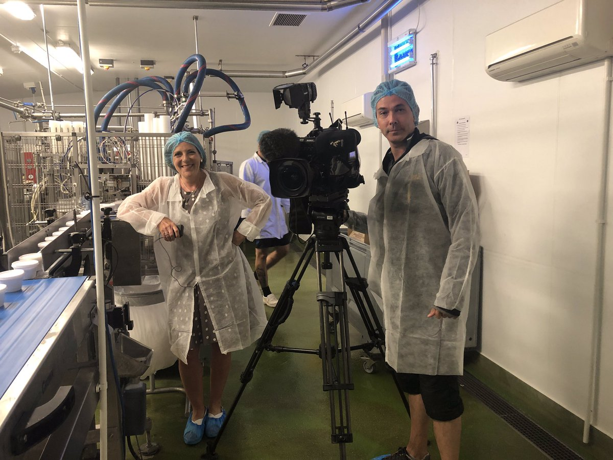 Rocking the hairnet look for @bbcpointswest @bbcwest tonight at 1830! The impact of sales being 90% down for the time of year despite the hot weather. @MarshfieldIces