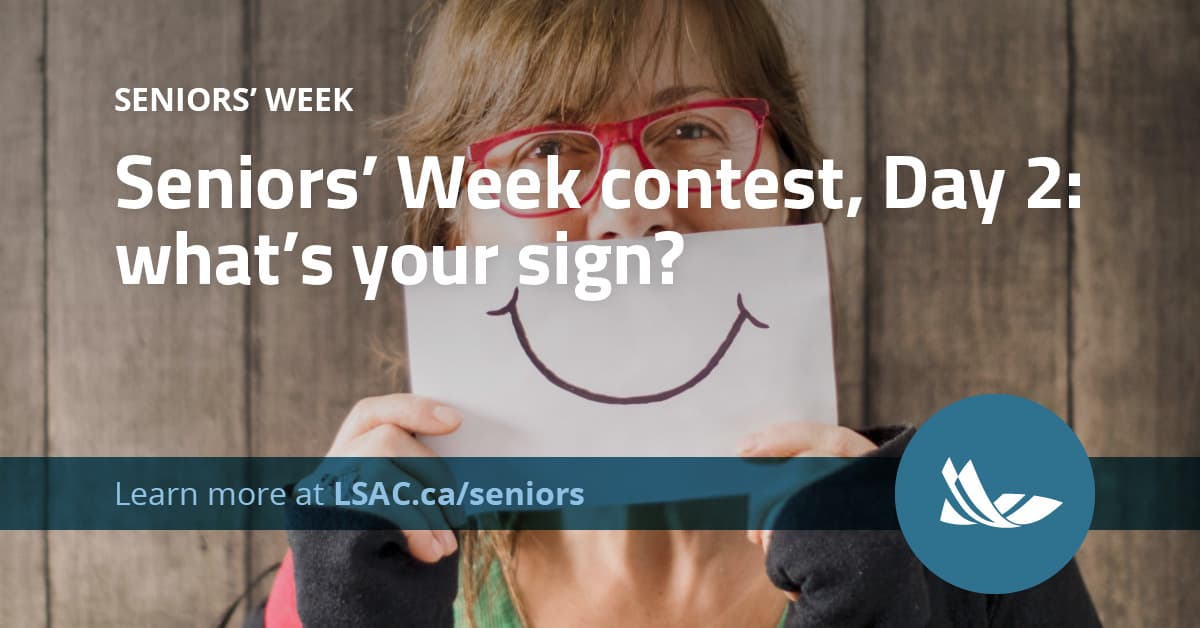 Day two of Seniors' Week in the County is Make-a-Sign day! Make a sign showing what a special senior means to you. Then share it with us for a chance to be entered into a draw to win something cool at the end of the week! Visit http://LSAC.ca/seniors  for details. #seniorsweekpic.twitter.com/8v4wHhNuwF