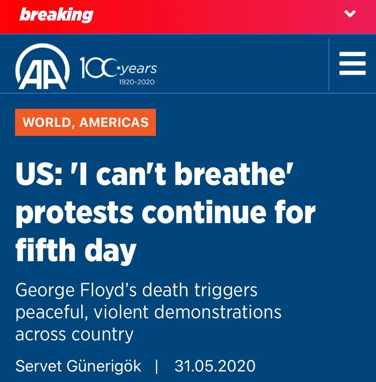 """""""I can't breathe"""" was George Floyd's anguished cries as his RACIST killer choked him while other officers stood by. In the end, Floyd gave up. In Nigeria, indigenous tribes """"can't breathe"""" due to the stranglehold of Fulani RACISM. #IPOB is here to break that hold. Join us!"""