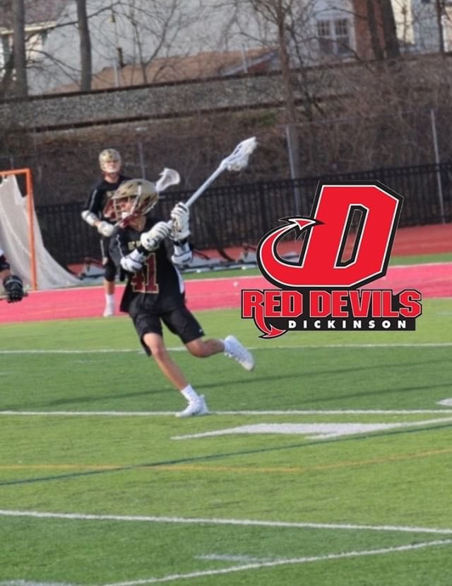 I am excited to announce my commitment to further my education and play lacrosse at Dickinson College. Thanks to everyone who has helped me get to this point. <br>http://pic.twitter.com/K1ClzVGNnG