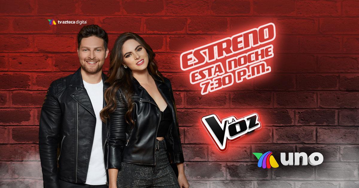 .@edvilard y Sofía Aragón están listos para 𝗟𝗮 𝗩𝗼𝘇, ¡𝗘𝗦𝗧𝗔 𝗡𝗢𝗖𝗛𝗘 podremos disfrutar del reality musical que hace 𝗩𝗜𝗕𝗥𝗔𝗥 tus 𝗦𝗘𝗡𝗧𝗜𝗗𝗢𝗦! ✌🏼❤️🎤 ¿𝗘𝘀𝘁𝗮́𝗻 𝗹𝗶𝘀𝘁𝗼𝘀?   ¡Escríbenos con el HT #LaVozEstreno! 📲