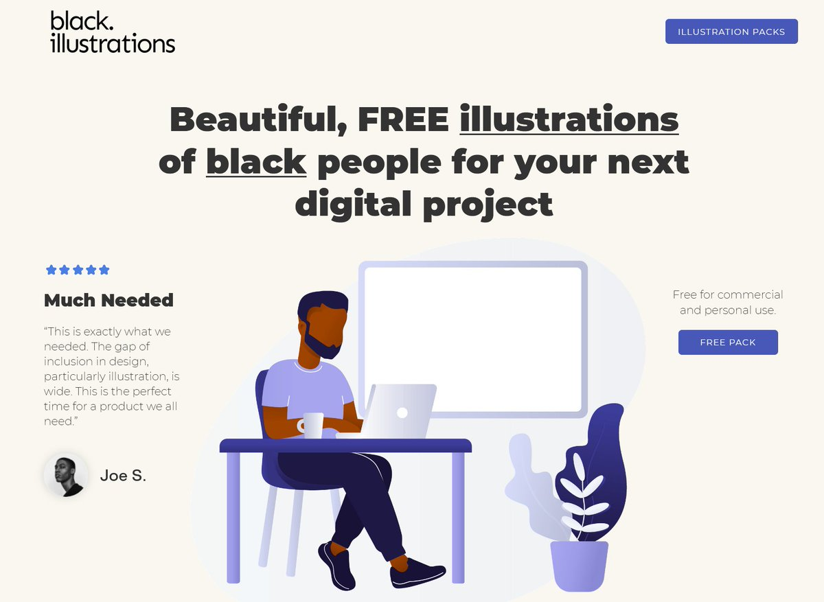 Given that people of colour are often under represented in illustrations, creative types might be interested in this collection of digital designs of black people for use on websites, web applications, mobile apps ... blackillustrations.com #contentcreation #BlackLivesMatter