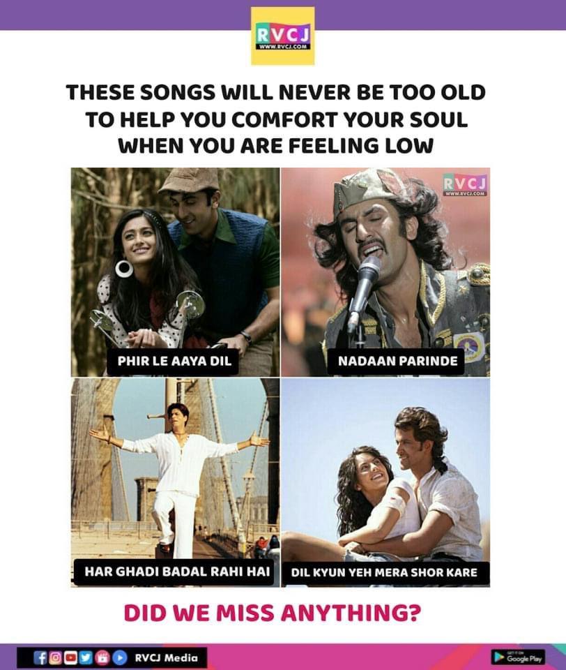 These songs  #SonuNigam @K_K_Pal #Barfi #Rockstar #KalHoNaaHo #Kites #Bollywood #rvcjmovies pic.twitter.com/J8e7kY7IQT