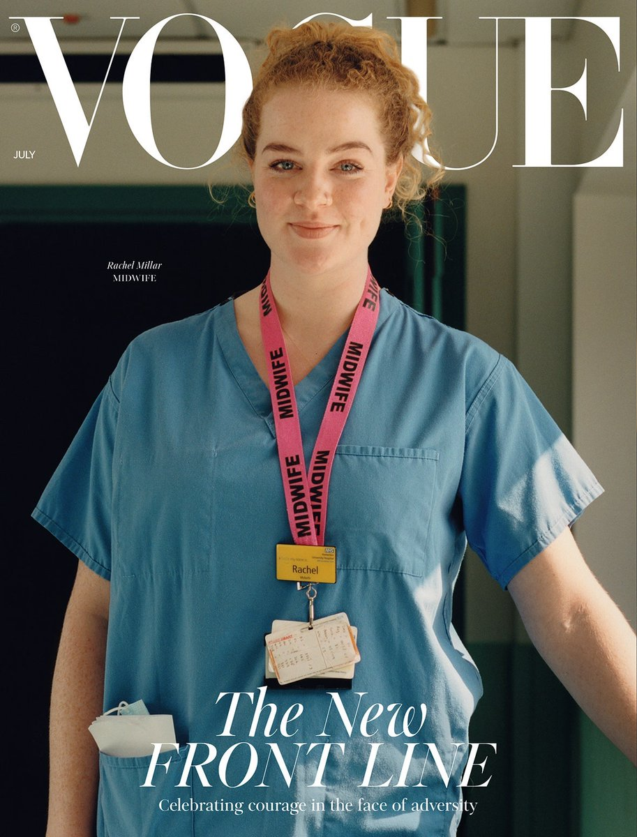 Never thought I would see the day my profession was on the front cover of #vogue pic.twitter.com/uhnTx6Wtqn