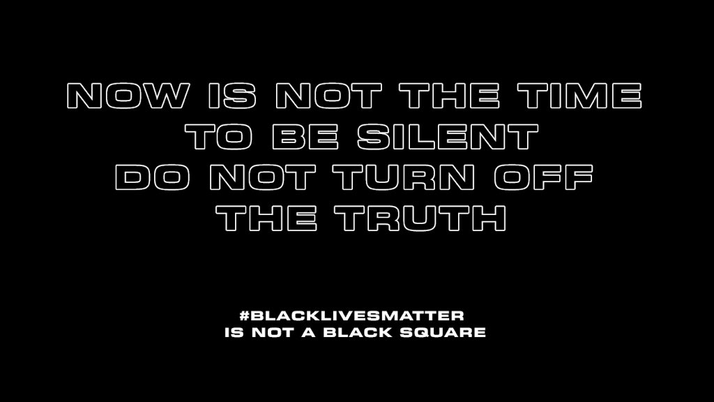 SILENCE IS NOT AN OPTION When you use the Black Lives Matter hashtag with the blank post you are adding to the problem instead of fixing it. You are making it harder for the world to find information and resources on Black Lives Matter.
