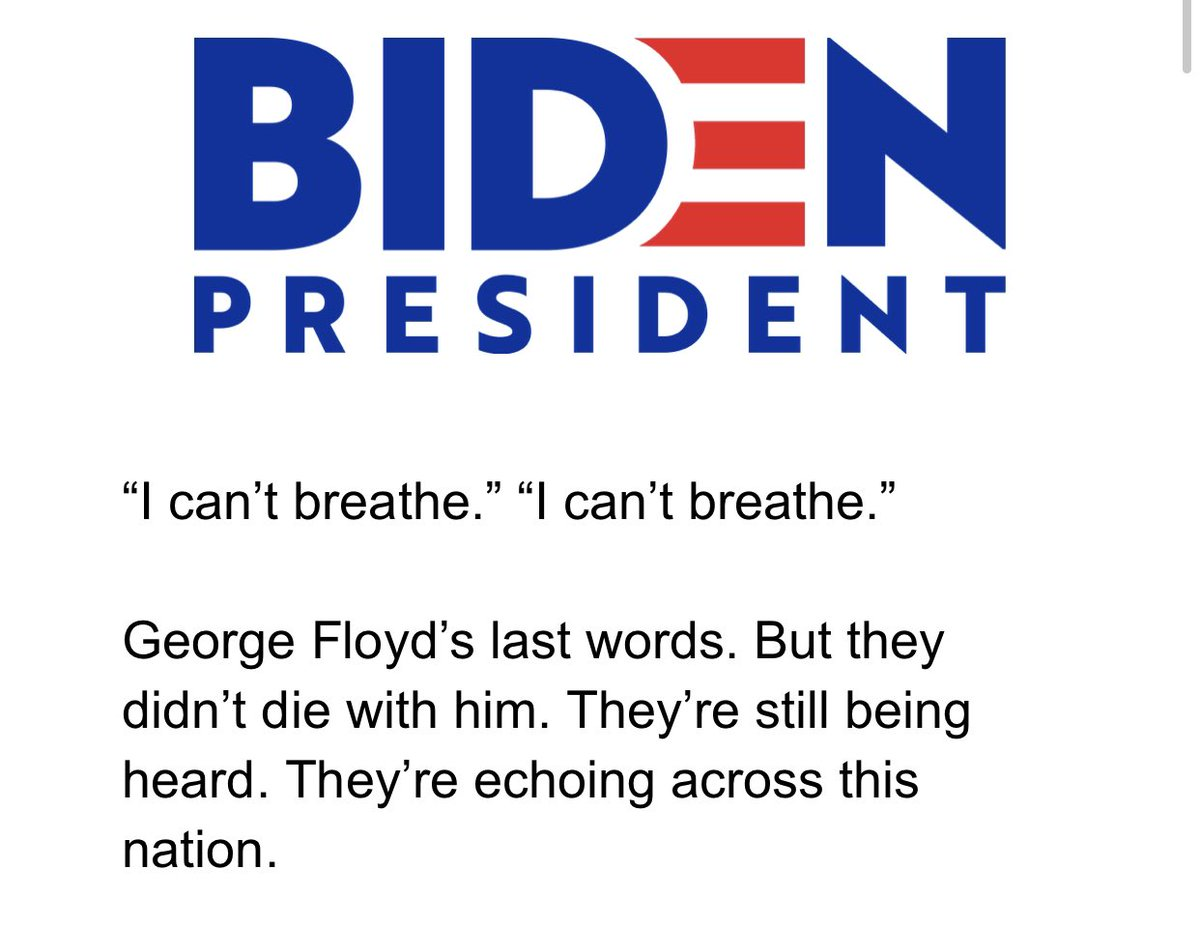 Joe Biden just sent a campaign fundraising email... using George Floyd to raise money.  Absolutely SHAMELESS!