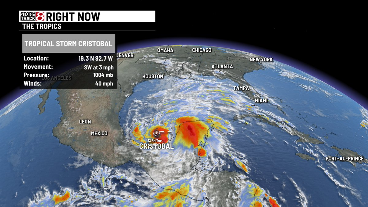 The third named tropical system of the Atlantic hurricane season has formed. Tropical storm Cristobal will hang around the southern Gulf for the next few days before moving north late in the week wishtv.com/weather