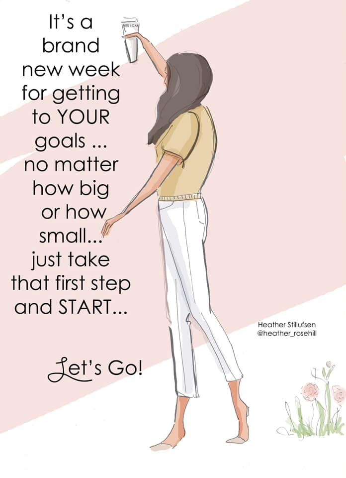 Get up and get to those goals! No matter how big or small!  Credit - Heather Stillufsen #fashion pic.twitter.com/RY6xiGmjZg