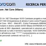 Image for the Tweet beginning: Nuova offerta di #lavoro Programmatore .Net