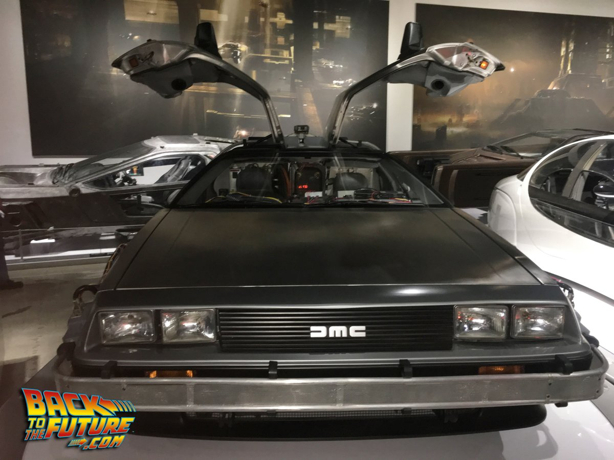 """Visiting the original """"A"""" car Delorean Time Machine from @BacktotheFuture was one of the highlights of my visit to #Hollywood. #BTTF #PetersenAutomotiveMuseumpic.twitter.com/QhIUyBxmKC"""