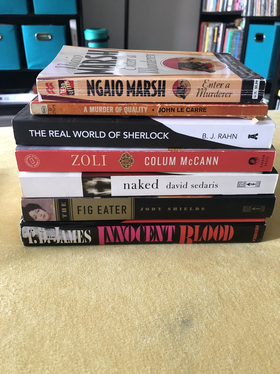 Thanks @chbooksdc for my mystery box, appropriately with some mysteries!