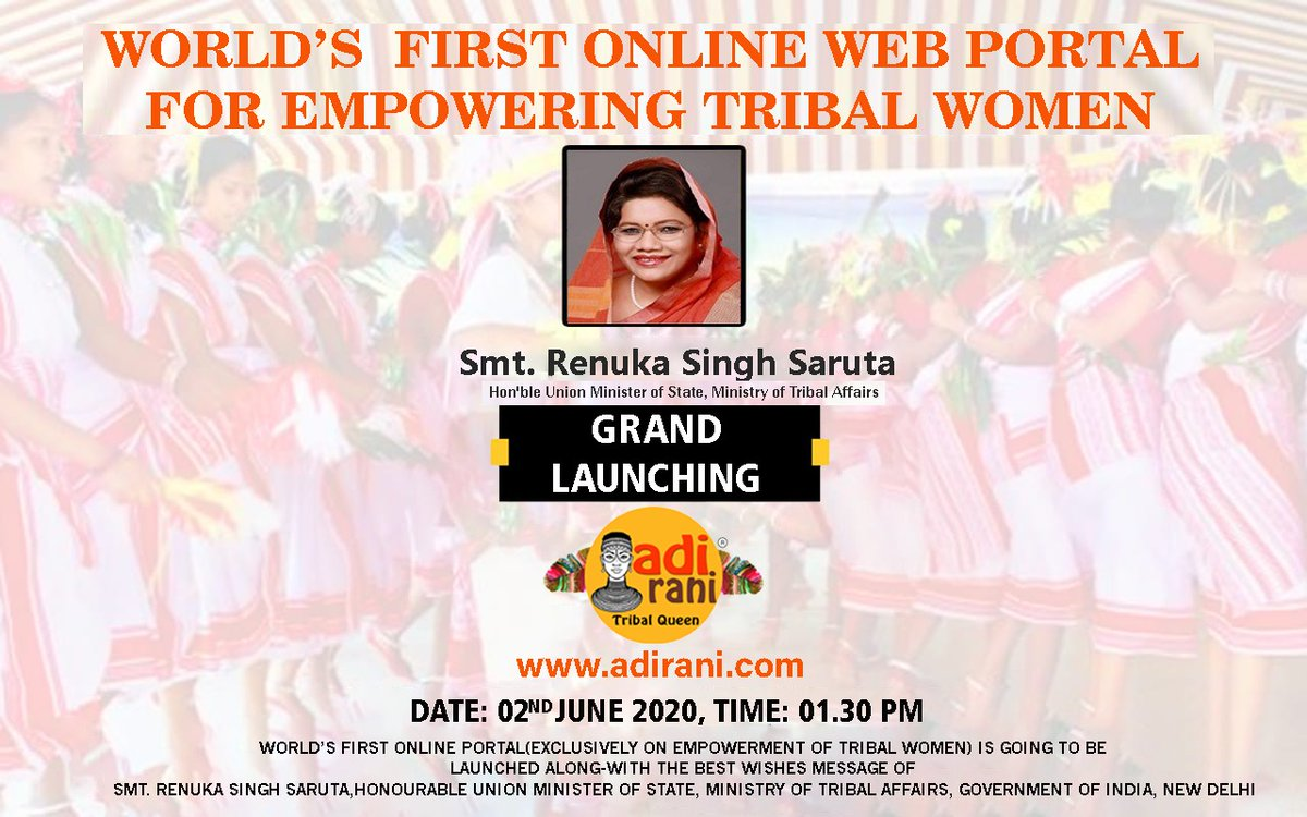 Lunching ceremony of *WORLD'S FIRST ONLINE WEB PORTAL FOR EMPOWERING TRIBAL WOMEN. pic.twitter.com/xyaFhhiElJ