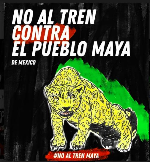 Yo digo SÍ al respeto a las desiciones de los pueblos originarios y los pueblos organizados, SÍ al respeto a la vida de los animales y la naturaleza, SÍ a la soberanía de lxs mexicanos, NO MAS COLONIALISMO, #NoAlTrenMaya !!!!!!!!