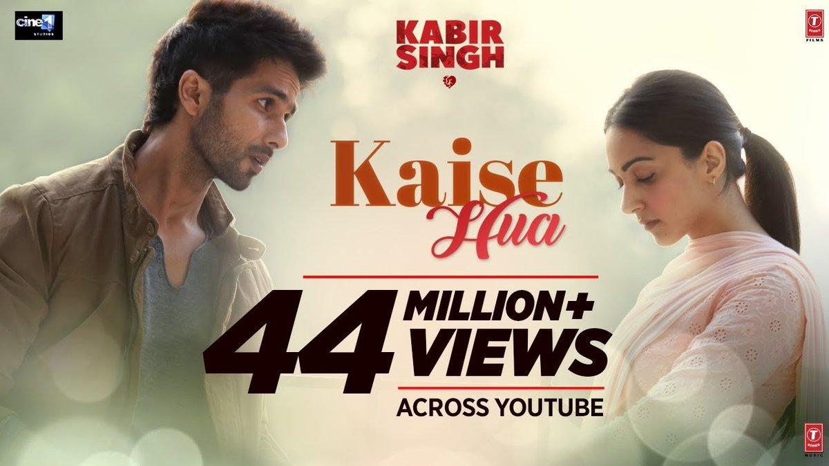 #KabirSingh music album creates history . This becomes Bharat's first music album to cross 200 million on @Spotify   #200MillionForKabirSinghOnSptify #Bollywood   @shahidkapoor  @advani_kiara