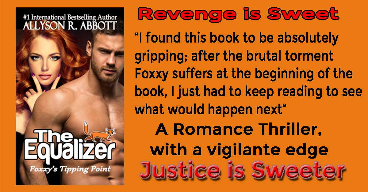 The Equalizer Foxxy Book 1 by #1 International Bestselling Author Read how Foxxy grows from a victim to the retribution giver. She discovered her Tipping Point #IARTG Justice and Vigilante #Metoo #IAN1 Romance Thriller. https://t.co/alZxuEY2VR https://t.co/8nrOQ3mNVr