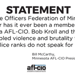 Image for the Tweet beginning: Minnesota AFL-CIO Calls for Minneapolis