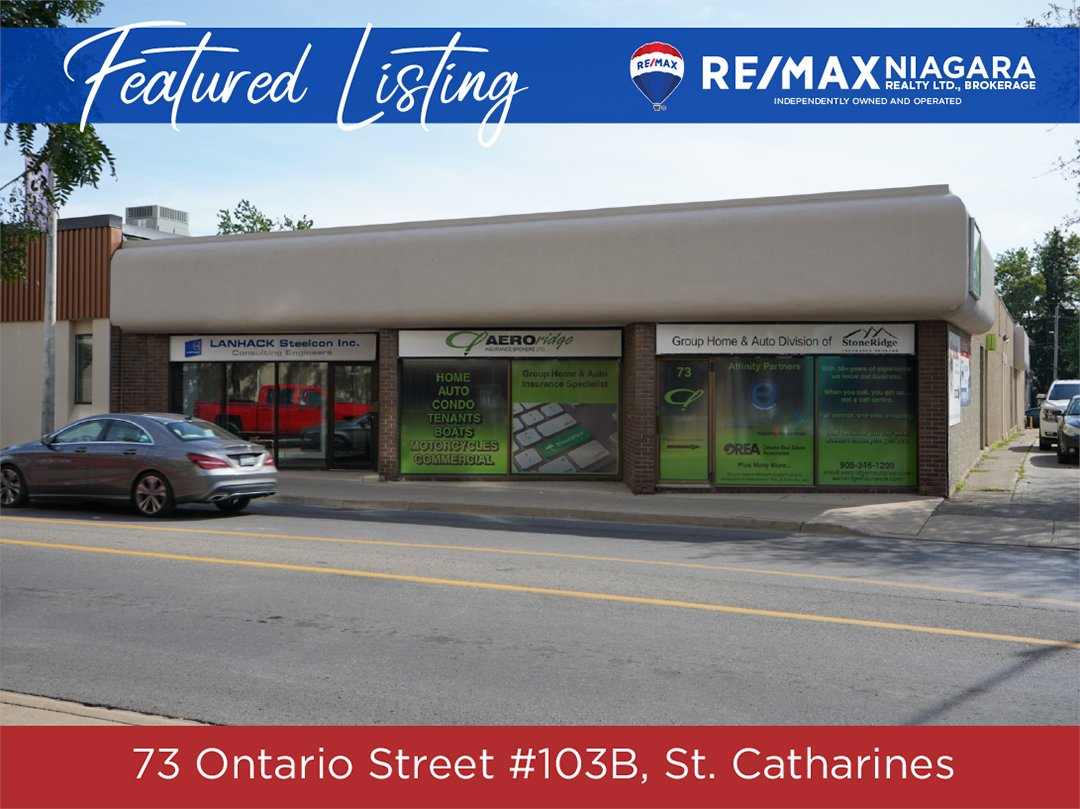 📍 Today's Featured Listing 🏡  73 Ontario St. #103B, St. Catharines Alan Caslin, Sales Representative  ▪️ Downtown office space ▪️ 1,000 sq.ft. ▪️ $795 per month  For more details visit: https://t.co/IJ6CAbvlmN https://t.co/LkMQaaOh40