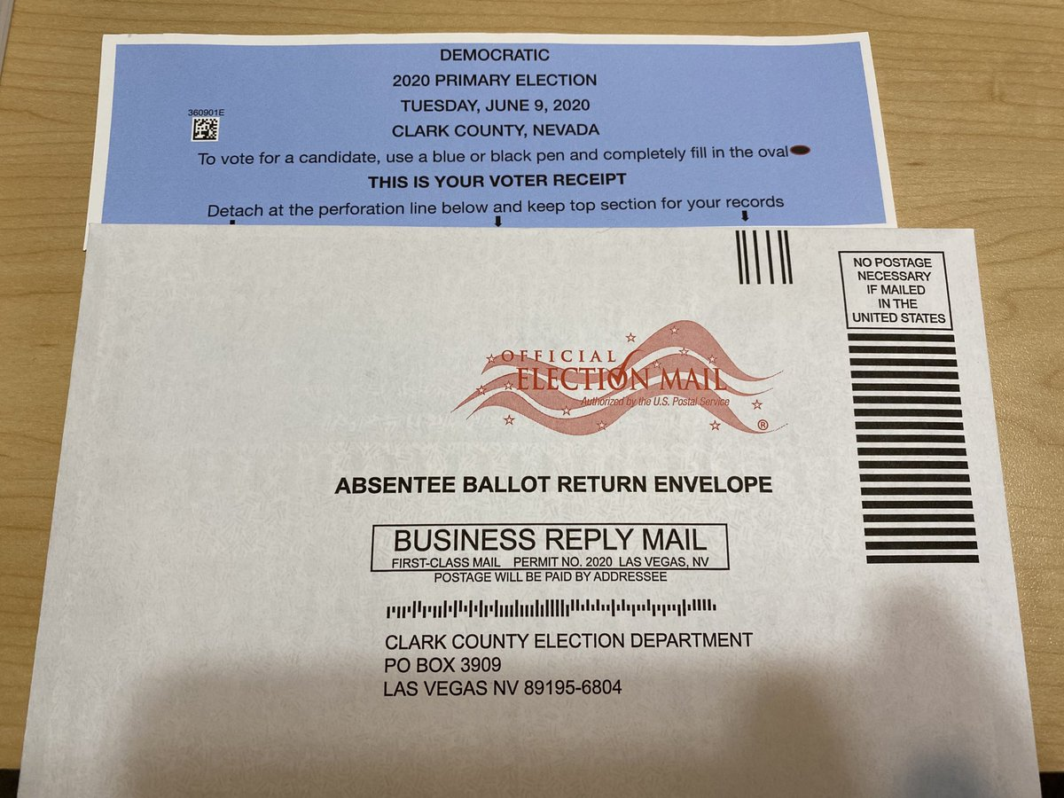 Just filled out my ballot and put it in the mail. Or, as the President would say, I committed fraud. 😏 https://t.co/8bZfO5hZG5