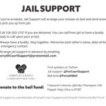 Image for the Tweet beginning: We're doing jail support for