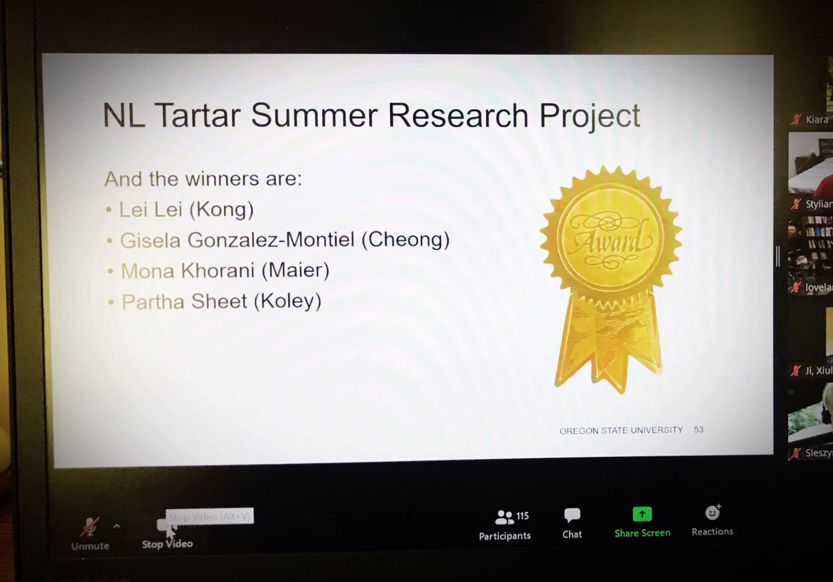 """Thanks to @OSU_Chemistry for selecting me to receive the """"NL Tartar Research Project Fellowship Award"""". Also, Thanks to my adviser Prof. Claudia Maier for her support.   #research #scientificresearch #chemistry #science #researchproject #phd https://t.co/MhVKghW8UY"""