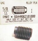"5/8-11x1"" Hex Socket Set Screws Half Dog Point Alloy Steel (2) - https://ebay.to/2XShm64 #industrial #diy #fastenerspic.twitter.com/6JHOcDFNKH"