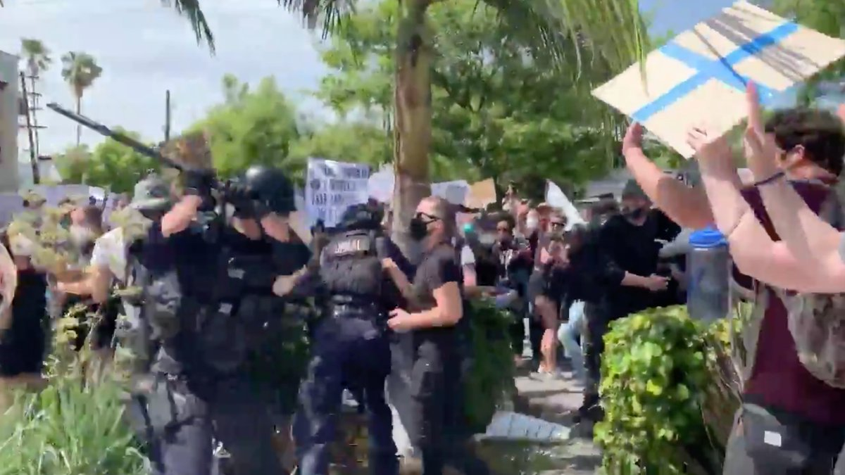 This is how police are responding to a national uprising against police violence: