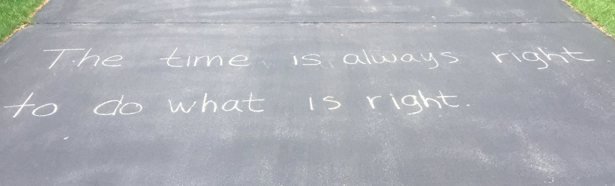 Chalked on a driveway near my house.