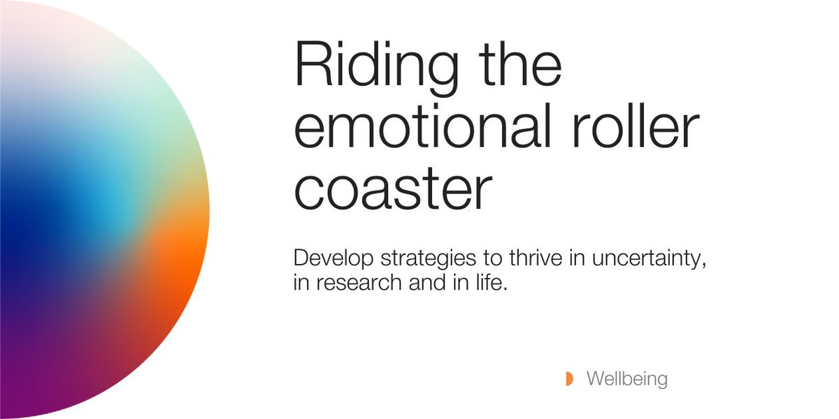 We're all on this research roller coaster together🎢 with both ups and downs. Join us for a webinar on how to manage some of the emotions that come along all those ups and downs.   Wed June 10th @ 2pm  Zoom👇 https://t.co/RN64U56Tl5  #phdchat #phdlife https://t.co/f3EWRu54nO