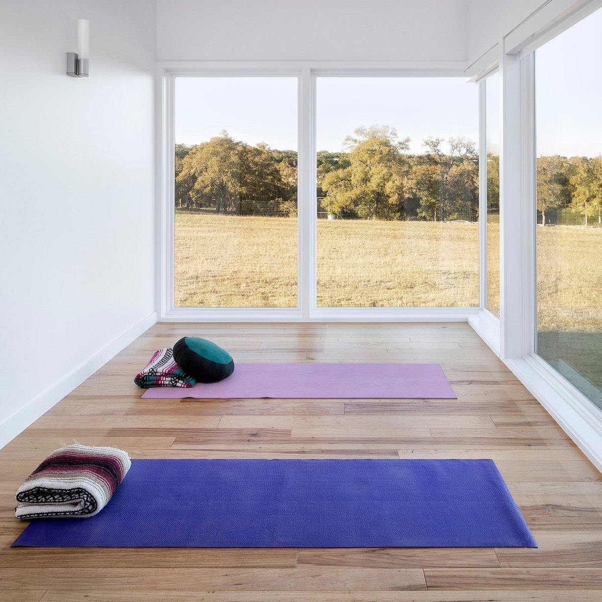 Weve rounded up 10 houses from across the globe with rooms dedicated to yoga and meditation: at.dezeen.com/2YcPyLl