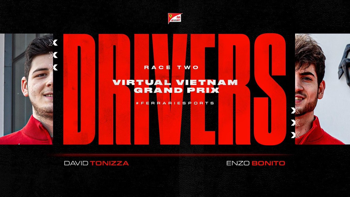 It isn't just the Leclerc brothers taking part in the Vietnam #VirtualGP this weekend.  Our very own #FDA Hublot Esports team drivers David Tonizza and Enzo Bonito will be racing in our #F1Esports line-up for Race Two 💪  #FerrariEsports Thrustmaster https://t.co/uFK3DwvwNJ