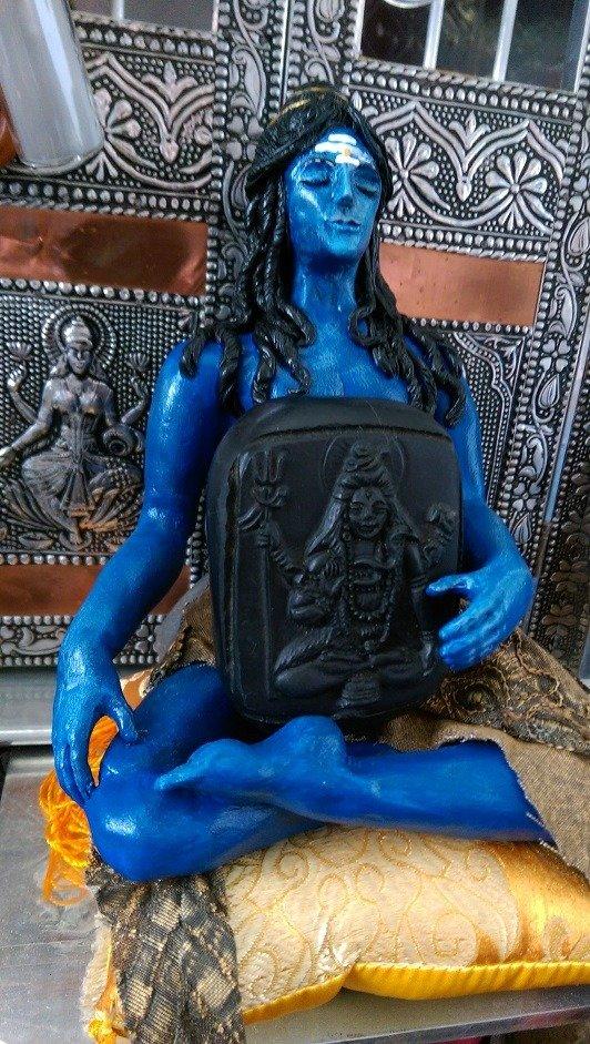 Shiva murti holding Shiva Shaligram murti. May he bring us wisdom in troubling times.