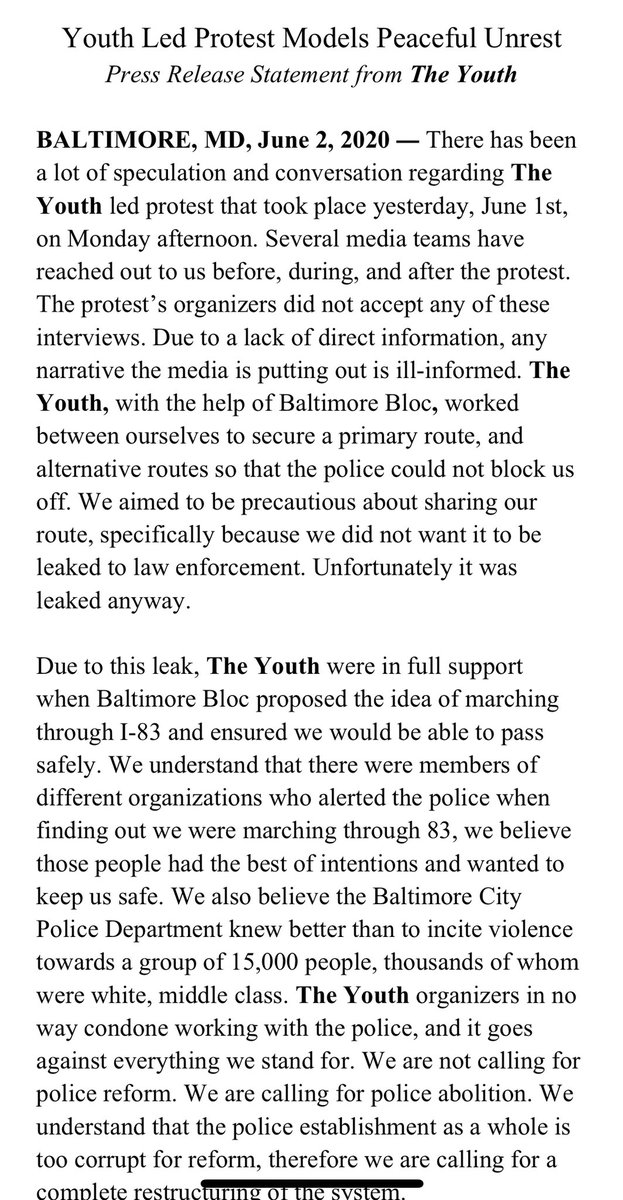 The Youth: Clarification & Offical Press Release