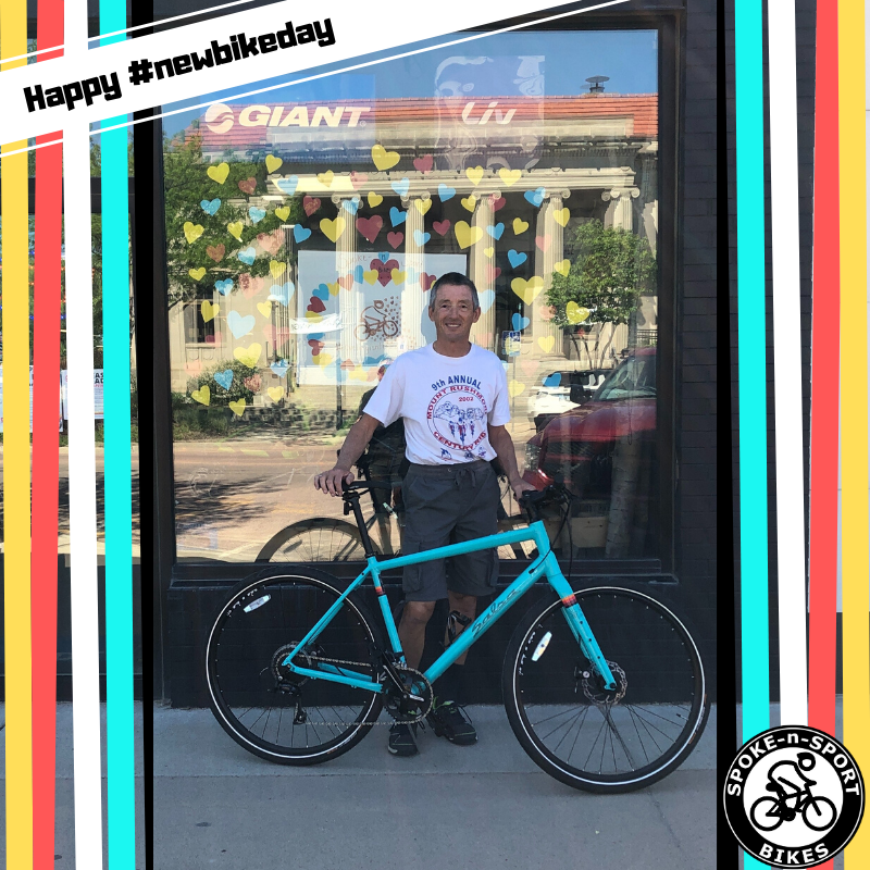 Happy New Bike Day Pete! Hope you enjoy your new Salsa Journeyman Sora 700c Flatbar while you are commuting.   #luvmysnsbike #newbikeday #ridesns #spokensportbikes #bikesforeveryone #spokensportbrookings #adventurebybike #ridingisntcanceled #visionzero #urbanbike pic.twitter.com/sUmJirvnvU