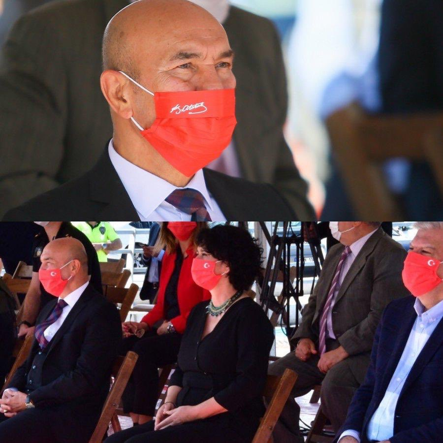 """2 fotoğraf arasındaki Milli farkı bulun...  Tek kullanımlık """" Ay Yıldızlı ve Gazi Mustafa Kemal Atatürk'ün """" imzasının bulunduğu maske yaptınız tebrikler. 👏   Bi sorum olacak;  Kullandıktan sonrada çöpemi attınız ?  #Başaramayacaksınız #YineMaskenizDüştü #CHPbunuNedenYapıyor https://t.co/EVpl2Etmyr"""