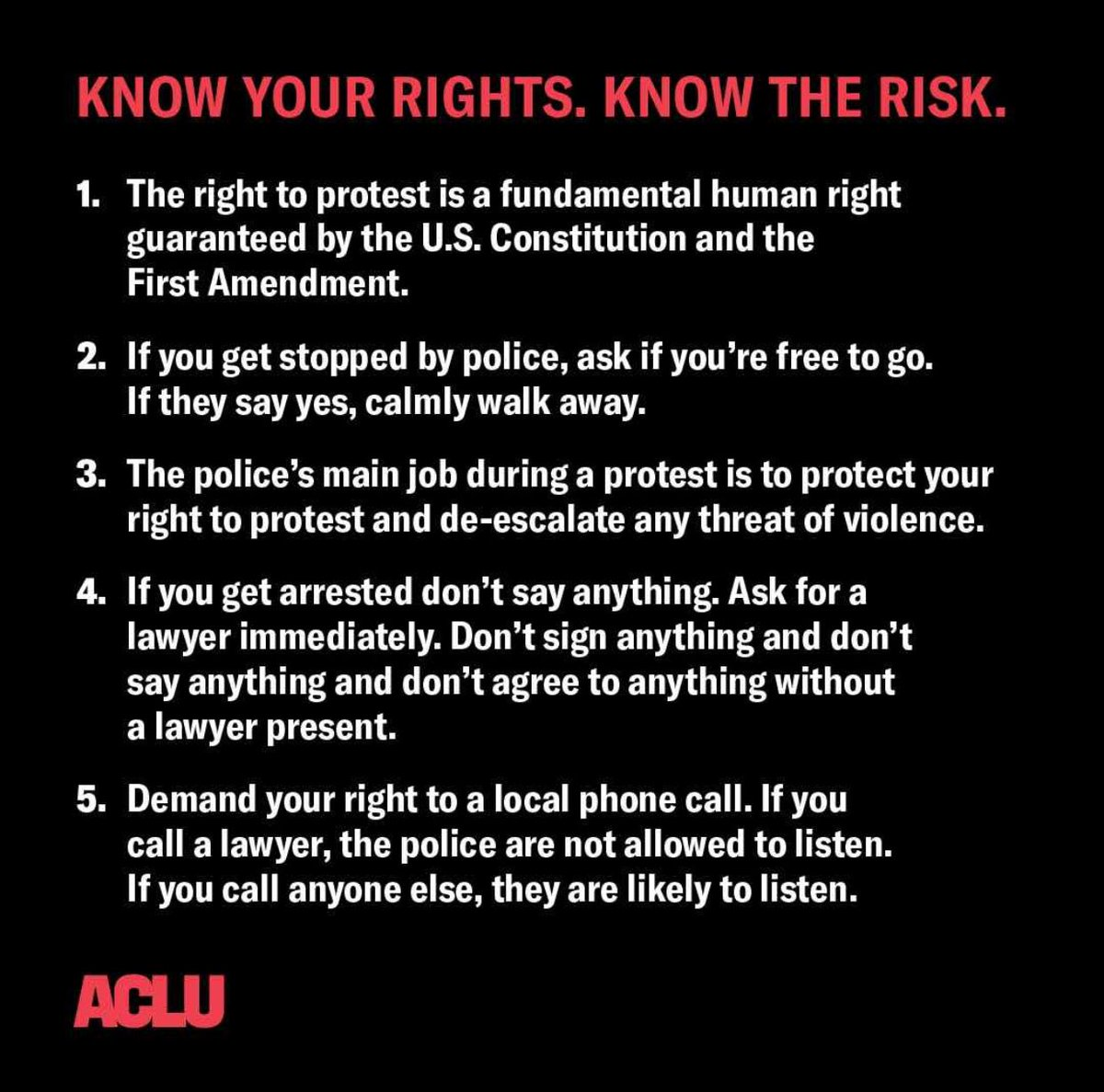 For those taking to the streets: