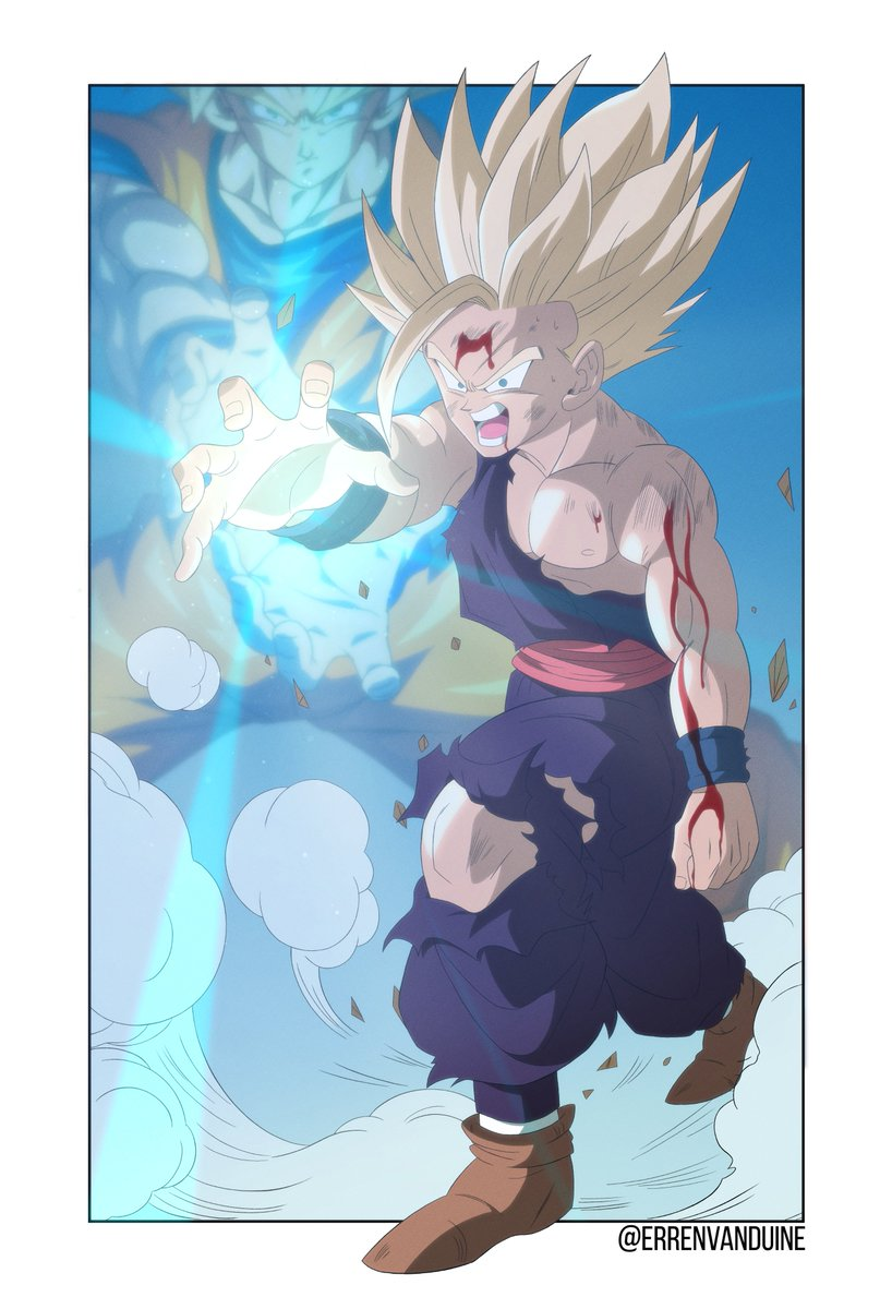 here's an edit I wanted to do by including the Goku I drew for that collab  ty erren for letting me post https://t.co/2I2dFgdt6E https://t.co/2tBm6sCN4K